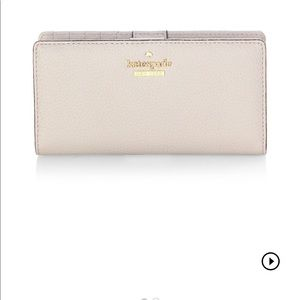 Kate spade nude leather wallet